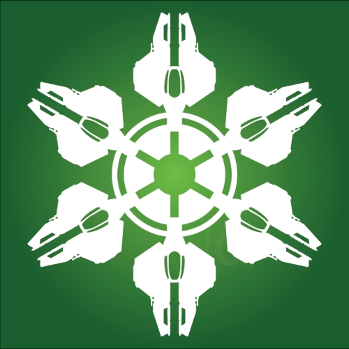 Eta-2 interceptor - Star Wars Snowflake